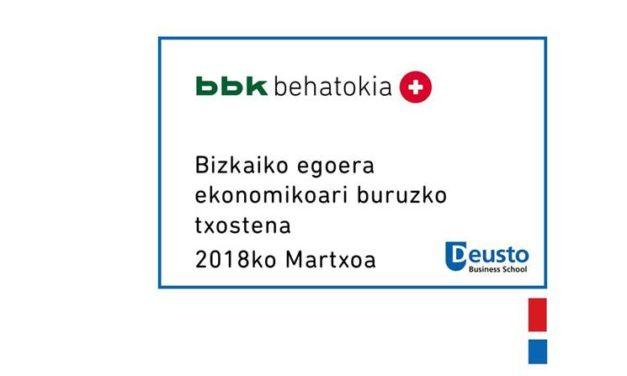 (Euskera) Bizkaiko egoera ekonomikoari buruzko txostena – 2018ko Martxoa: Arrisku global berriak eta tokiz tokiko arrisku zaharrak