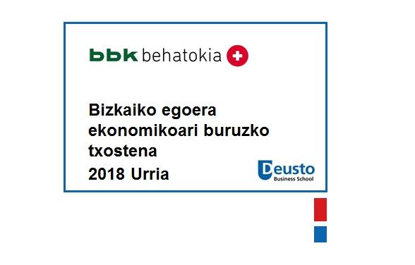 (Euskera) Abaguneko txostena-2018ko Urria: Bizkaiko hazkunde ekonomikoan moteltze zantzuak azaltzen ari dira